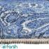 دکتر فرش - فرش چهل تکه - فرش چهل تکه محتشم مدل 100501 رنگ آبی فرش چهل تکه 1