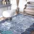 دکتر فرش - فرش چهل تکه - فرش چهل تکه محتشم مدل 100507 رنگ آبی فرش چهل تکه 1