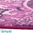 دکتر فرش - فرش چهل تکه - فرش چهل تکه محتشم مدل 100507 رنگ بنفش فرش چهل تکه 1