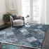 دکتر فرش - فرش چهل تکه - فرش چهل تکه محتشم مدل 100509 رنگ آبی فرش چهل تکه 1