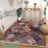 دکتر فرش - فرش چهل تکه - فرش چهل تکه محتشم مدل 100509 رنگ لاکی فرش چهل تکه 1