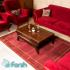دکتر فرش - فرش سنتی - فرش سنتی محتشم مدل 100300 رنگ لاکی فرش سنتی 1