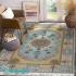 دکتر فرش - فرش اصیل - فرش اصیل محتشم مدل 100908 رنگ فیروزه ای فرش اصیل 1