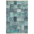 دکتر فرش - فرش چهل تکه - فرش چهل تکه محتشم مدل 100501 رنگ سبز آبی فرش چهل تکه - تصویر کوچک