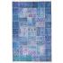 دکتر فرش - فرش چهل تکه - فرش چهل تکه محتشم مدل 100511 رنگ آبی فرش چهل تکه - تصویر کوچک
